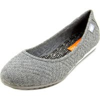 Rocket Dog Carla Women  Round Toe Canvas Gray Flats