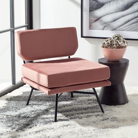 "SAFAVIEH Kermit Modern Cushioned Accent Chair - 25"" W x 28.5"" L x 29.5"" H"