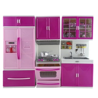 Kitchen Play Set Pretend Play Barbie Size Toy Kitchen