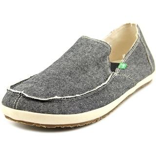 Sanuk Rounder Hobo Men Moc Toe Canvas Gray Loafer