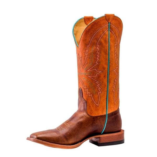 Horse Power Western Boots Mens Roper Pull On Wizard Mahogany