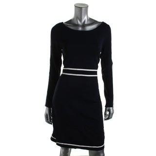 Polo Ralph Lauren Womens Woven Contrast Trim Wear to Work Dress - M