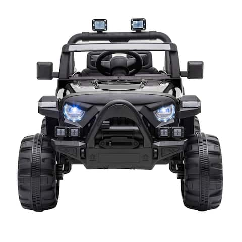 """Boys and girls toy two-wheeled dual-drive off-roadvehicle-white/Black - 7'6"""" x 9'6"""""""