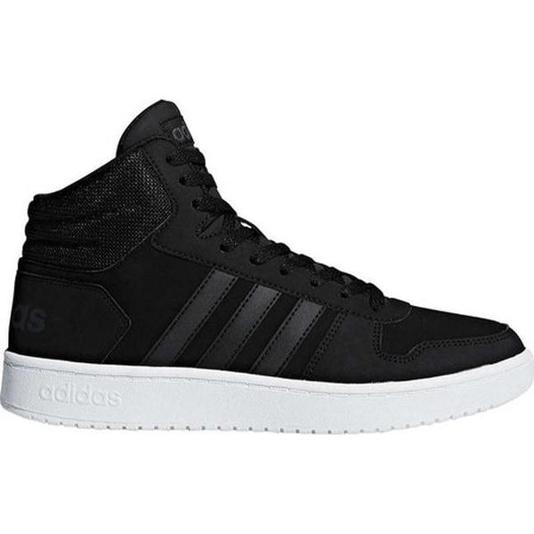 b7854b9f144 Shop adidas Men s Hoops 2.0 Mid Basketball Shoe Black Black Carbon ...