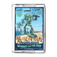 Jersey Shore, New Jersey - Invaders from the Deep - Lantern Press Artwork (Acrylic Serving Tray)