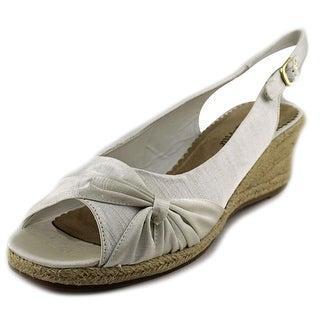 Bella Vita Sangria Too Women WW Open Toe Synthetic White Wedge Heel