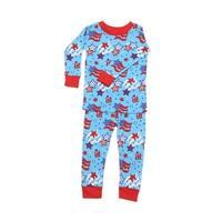 New Jammies Baby Boys Blue Red Star Spangled Cotton 2 Pc Sleepwear Set 12-24M