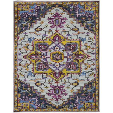The Curated Nomad Malabar Vibrant Medallion Hand-tufted Area Rug