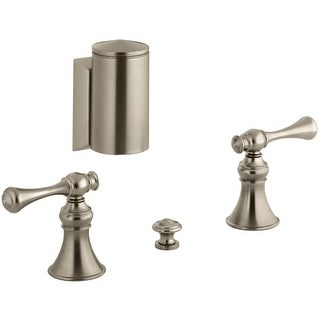 Kohler K-16137-4A Revival Bidet Faucet with Below-The-Rim Swivel Spray and Traditional Lever Handles