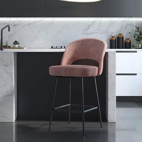 CosmoLiving Alexi Upholstered Counter Stool