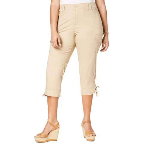 Lee Womens Plus Cargo Pants Cropped Cargo