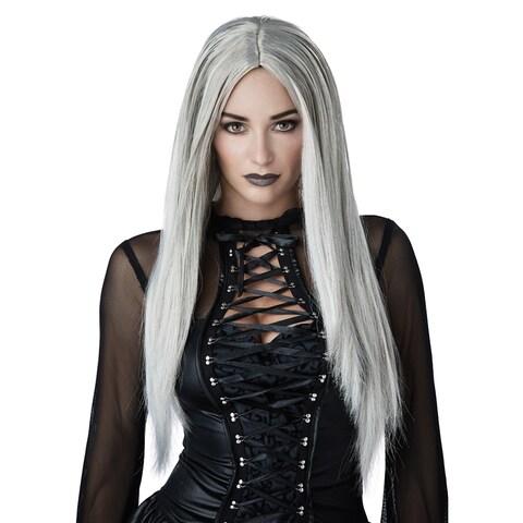 Womens Gothic Matriarch Grey Witch Wig