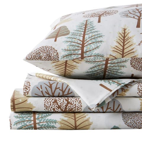 Lodge Printed Ultra-Smooth Microfiber Bed Sheet Set by Great Bay Home