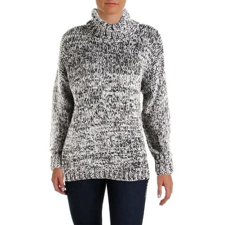 525 Womens Marled Asymmetric Turtleneck Sweater