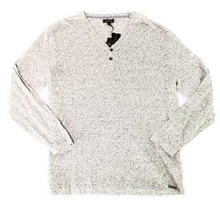 Tasso Elba NEW Khaki Marl Brown Mens Size 2XL Marled Henley Sweater