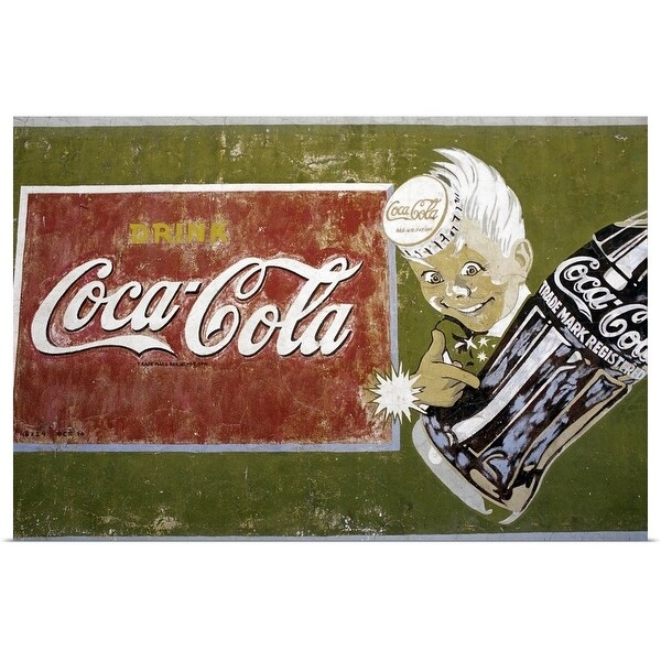 """Coca-Cola mural, Surprise Valley, California, USA"" Poster Print"