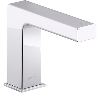 Kohler K-103S37-SANA  Strayt 0.5 GPM Single Hole Touchless Bathroom Faucet with Grid Drain, Kinesis Sensor and Mixer, AC-Powered