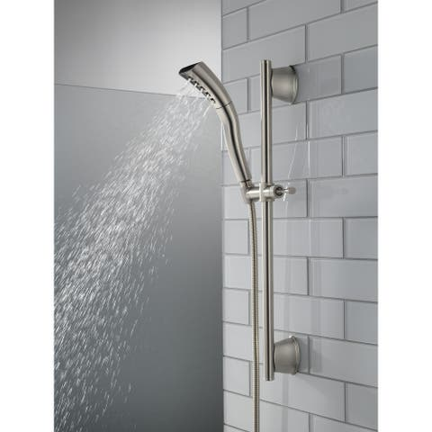 Delta Universal Showering Components H2Okinetic® Single-Setting Slide Bar Hand Shower (51579-SS)