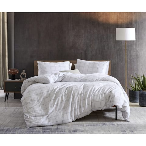 Kenneth Cole New York Holden Grid Cotton Grey Comforter Set