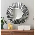 Statements2000 Silver Metal Wall Mirror Art Accent Decor by Jon Allen - Mirror 118 - Thumbnail 0