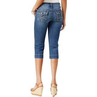 Kut Womens Natalie Cropped Jeans Indigo Classic Fit
