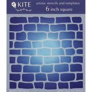 "Judikins Kite Stencil 6"" Square-Stone Wall"