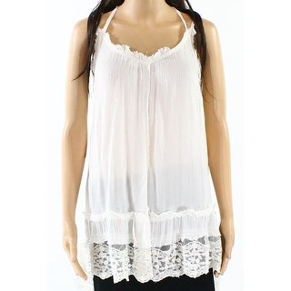 Melrose And Market White Ivory Lace Hemmed Women's Small S Knit Top