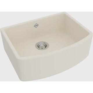 "Rohl RC3021 Shaws Waterside 27-1/2"" Single Basin Farmhouse Fireclay Apron Kitchen Sink"