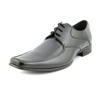 Kenneth Cole Reaction Star Quality Men  Apron Toe Leather Black Oxford