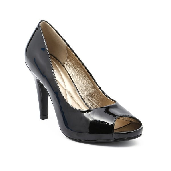 Andrew Geller TAGALONG Women's Heels Black Patent