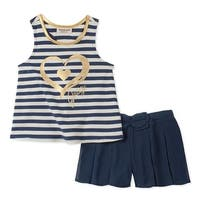 Juicy Couture Girls 2T-4T Stripe Tunic Short Set