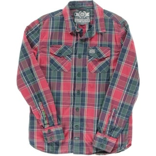 Superdry Mens Checkered Long Sleeves Button-Down Shirt