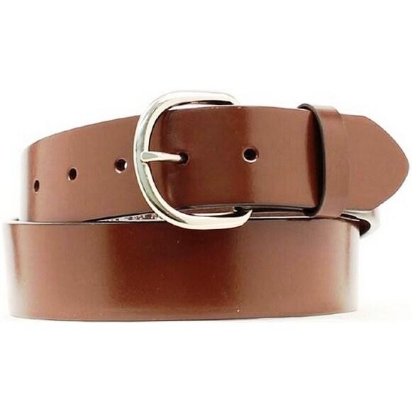 Nocona Western Belt Mens Basic Smooth Leather Aged Bark
