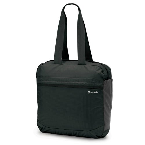 Pacsafe Travelsafe X25 - Black Anti-theft Packable Tote w/ Smart Zipper Security