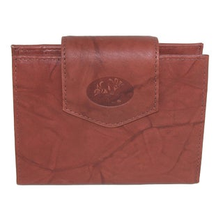 Buxton Women's Leather Attache Clutch Cardex Wallet and Coin Purse
