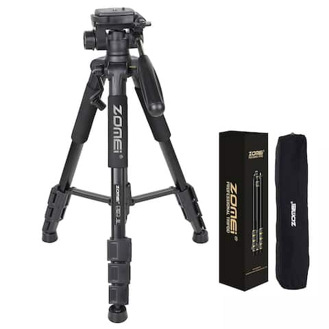 "55"" Professional Aluminum Alloy Camera Tripod with Carrying Bag(19.7'' - 55'')"