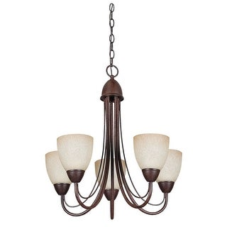 "Sunset Lighting F2485 Tempest 5 Light 500 Watt 23"" Width Chandelier"