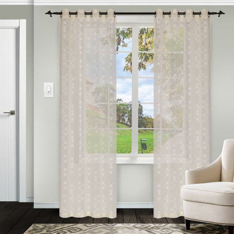 Miranda Haus Duhamel Sheer Grommet Curtain Panel Pair