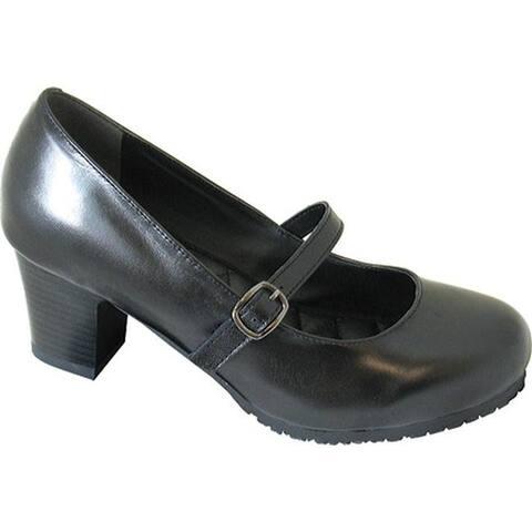 Genuine Grip Footwear Women's Mary Jane Black Leather