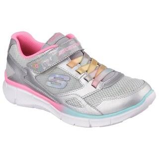 Skechers Girls' Equalizer Starcatcher Sneaker,Silver/Multi