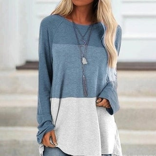 Link to Colorblock Pullover Tops Lightweight Tunic Shirt Similar Items in Tops