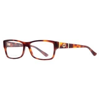 Gucci GG 3133 05L 54mm Havana Brown/Gold Women's Rectangular Eyeglasses - havana brown - 54mm-15mm-135mm