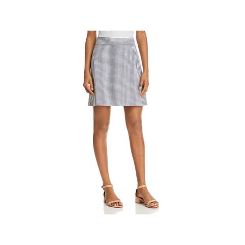 Theory Womens Mini Skirt Wool Striped