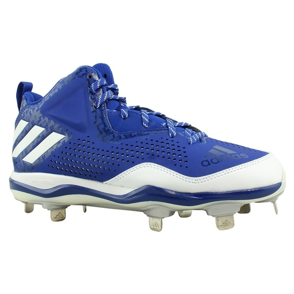 Shop Adidas Mens Power Alley 4 Mid 7.5 Blue Baseball Cleats Size 7.5 Mid - - 23145214 32443b