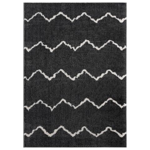 Carson Carrington Tossa Modern Microfiber/Polyester Shag Area Rug