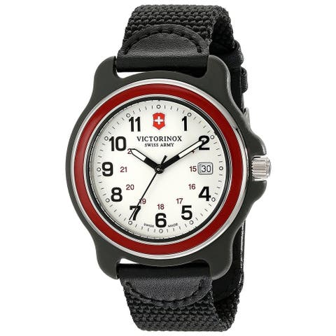 Victorinox Swiss Army Original XL 249085 Men's Red Bezel Black Nylon Strap Watch - 1 Size