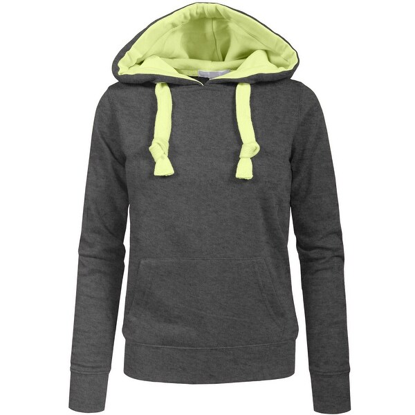 NE PEOPLE Women Basic Solid Comfortable Pullover Hoodie (NEWT97)