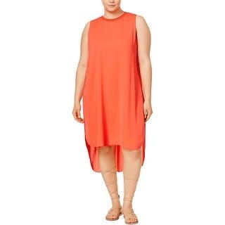 Rachel Roy Womens Plus Casual Dress Chiffon Overlay Hi-Low
