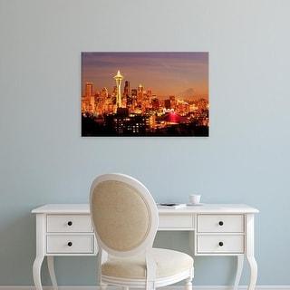 Easy Art Prints Richard Duval's 'Seattle Skyline' Premium Canvas Art