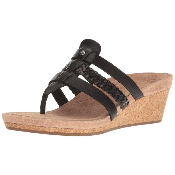 Ugg Womens Maddie Leather Open Toe Casual Platform Sandals